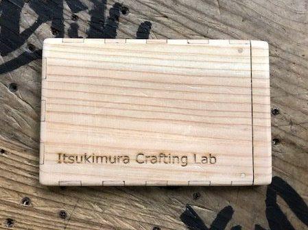 杉の木でできた名刺入れ|一般社団法人七草会 就労継続支援B型あらた 熊本県人吉市